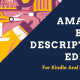 Amazon Book Description HTML Editor